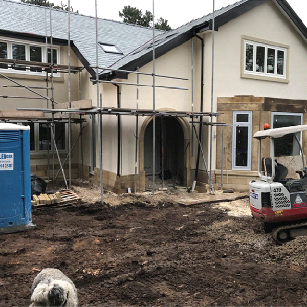 Construction on House Extension